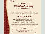 Marriage Card Sample In English Free Kankotri Card Template with Images Printable