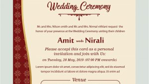 Marriage Ceremony Invitation Card format Free Kankotri Card Template with Images Printable