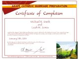 Marriage Counseling Certificate Template Online Pre Cana Catholic Marriage Prep