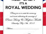 Marriage Invitation Card In English Post Royal Wedding Printables Free British Royal Party
