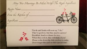 Marriage Quotes to Put In A Card Recipe Card for Bridal Shower Cute Poem with Images