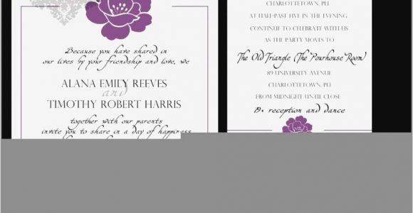 Marriage Reception Invitation Card In English 77 Elegant Wedding Invitation with Different Reception