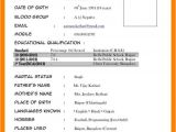 Marriage Resume format Word File Download Biodata format In Word File Bio Data for Marriage In