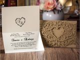 Marriage Thanks Card In Tamil Gold Lace Cut Wedding Invitation with Motifs and Heart Shape