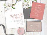 Marriage to Get Green Card Magnolia Wedding Invitation Pretty Wedding Invitation Set