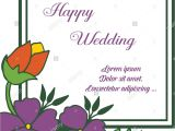 Marriage Wishes Card for Friend Greeting Card Lettering Of Happy Wedding with Purple