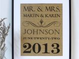 Marriage Wishes Card with Name Rustic Wedding Sign On Burlap Family Name Established Date