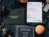 Marriage with Green Card Holder Navy forest Modern Wedding Invitation with Green Envelopes