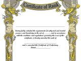 Martial Arts Gift Certificate Template Template Taekwondo Certificate Template