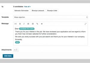 Mass Email Templates Awesome Rejection Email Template Elaboration Example