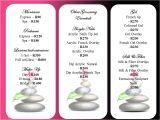 Massage Price List Template Belleza Perfecta Slimming Spa Belleza Updated Price List