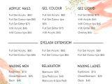 Massage Price List Template Template Massage Price List Template