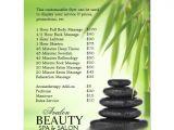 Massage therapy Flyer Template Customizable Promotional Flyers for Massage Salon Zazzle