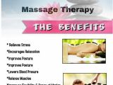 Massage therapy Flyer Template Massage therapy Benefits Template Postermywall