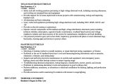 Master Electrician Resume Template Master Electrician Resume Samples Velvet Jobs