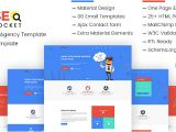 Material Design HTML Email Template Seo Digital Marketing Agency Template Pack Agency Re