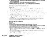 Material Management Resume Sample Material Program Manager Resume Samples Velvet Jobs