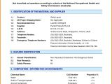 Material Safety Data Sheet Template Free Safety Data Sheet Example Pictures to Pin On Pinterest
