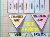 Math Interactive Notebook Templates Teaching with A Mountain View Teaching Place Value
