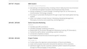Mba Student Resume Mba Student Resume Samples and Templates Visualcv