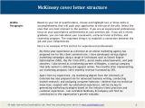 Mckinsey Cover Letter Address Mckinsey Cover Letter Sample
