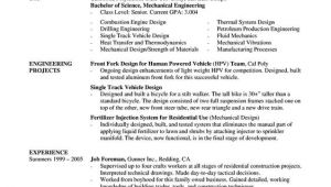 Mechanical Engineer Resume area Of Interest A Mechanical Engineer Resume Template Gives the Design Of