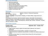 Mechanical Engineer Resume area Of Interest Mechanical Engineer Resume Samples and Writing Guide