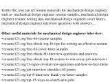 Mechanical Engineer Resume Headline top 8 Mechanical Design Engineer Resume Samples