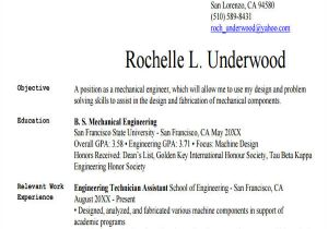 Mechanical Engineering Student Resume 25 Generic Engineering Resume Templates Free Premium