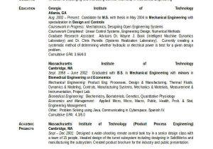 Mechanical Engineering Student Resume Engineering Resume Template 32 Free Word Documents
