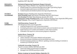 Mechanical Engineering Student Resume Industrial Engineering Logistics Cover Letter