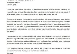 Medical assistant Cover Letter Templates Free 100 General Cover Letter format Sample Writing Pdf