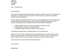 Medical assistant Cover Letter Templates Free 6 Medical Cover Letter Templates Free Sample Example