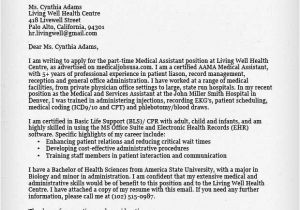 Medical assistant Cover Letter Templates Free Medical assistant Cover Letter Resume Genius