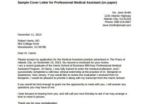 Medical assistant Cover Letter Templates Free Medical Cover Letter Template 6 Free Word Pdf