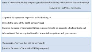 Medical Billing Contract Template Medical Template for Billing Contract Template Of Medical