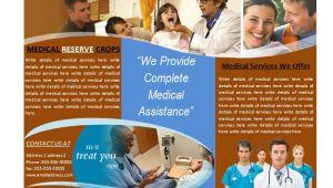 Medical Office Brochure Templates Medical Brochure Template for Medical Services Brochures