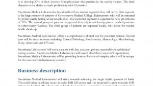 Medical Practice Business Plan Template Business Plan for Medical Lab