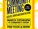 Meeting Flyer Template Free Community Meeting Flyer Template Postermywall
