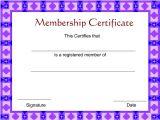 Membership Certificates Templates Membership Certificate Template Certificate Templates