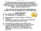 Membership Flyer Template Tiger News Pta Membership Drive Through October 31st