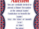 Memorial Benefit Flyer Template Copy Of Silent Auction Dinner Reception Fundraiser