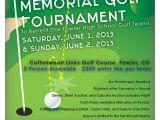 Memorial Benefit Flyer Template Gary V Sharp Memorial Golf tournament tournament Flyer