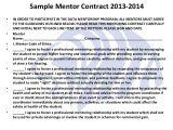 Mentoring Contract Template Data Mentoring