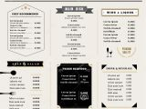 Menu Layouts Templates Restaurant Menu Design Template Layout with Icons and