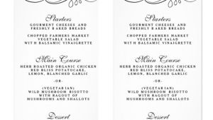 Menu Templates for Weddings 36 Wedding Menu Templates Free Sample Example format