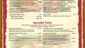 Menu with Pictures Template Templates Graphics and Templates