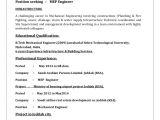 Mep Engineer Resume Mep Engineer Cv Habeeb Omer
