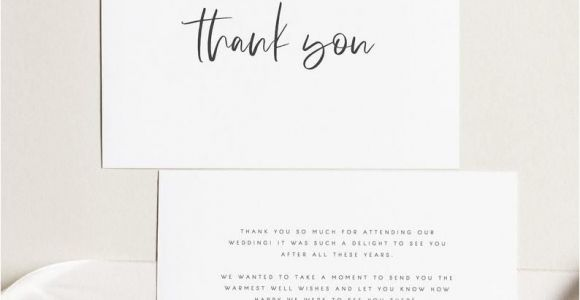 Message for Thank You Card Wedding Printable Thank You Card Wedding Thank You Cards Instant