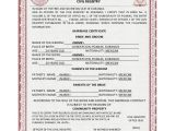 Mexican Marriage Certificate Translation Template Pdf 16 Sample Marriage Certificates Sample Templates